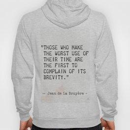 Jean de La Bruyère quote Hoody
