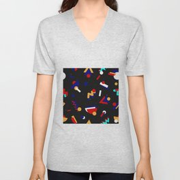 Memphis geometric pattern #2 Unisex V-Neck
