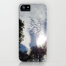 Scattered clouds iPhone Case