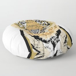 Tiger Collage Floor Pillow