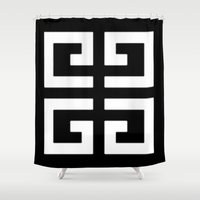 givenchy Shower Curtains featuring Givenchy by I Love Decor