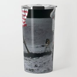 Apollo 16 Jumping On The Moon Travel Mug