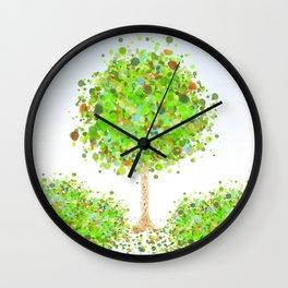 Spring Foliage Wall Clock