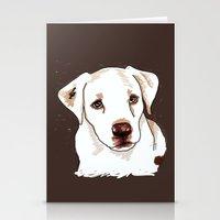 golden retriever Stationery Cards featuring Golden retriever by Pendientera
