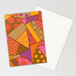 Graphic Leaf Patchwork (Fall Bold Colors) Stationery Cards