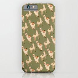 Funny Llama Alpaca Lama Pattern Gift iPhone Case