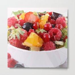 Fruits 2 Low Poly Metal Print