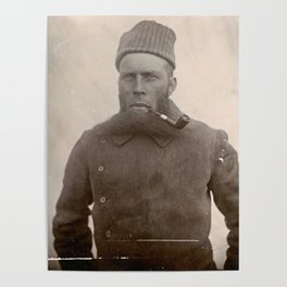 Bearded Ship Captain with Pipe - Vintage Photo Poster