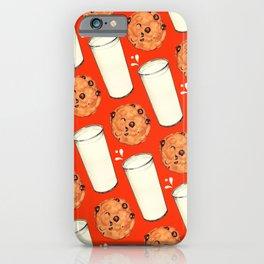 Milk & Cookies Pattern - Red iPhone Case
