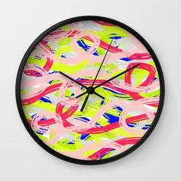 Rainbow Spaghetti 01 Wall Clock