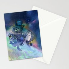 A thousand worlds on my mind Stationery Cards