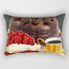 STRAWBERRY & CHOCOLATE CAKE BREAKFAST Rectangular Pillow
