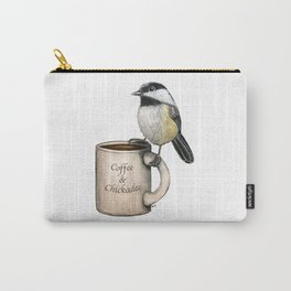 """""""Coffee & Chickadee"""" - Java Jungle collection Carry-All Pouch"""