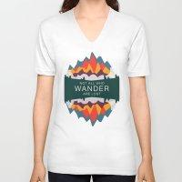 utah V-neck T-shirts featuring Wandering Utah by StateofMindDesign