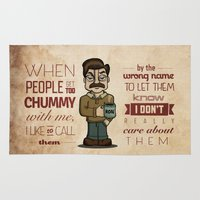 ron swanson Area & Throw Rugs featuring Ron Swanson 6 by maykel nunes