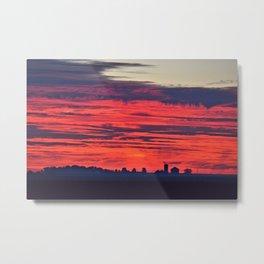 Red Farm Sunrise Metal Print