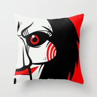 butcher billy Throw Pillows featuring Billy by Artistic Dyslexia