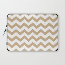 CHEVRON (TAN & WHITE) Laptop Sleeve