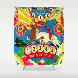 PINBALL: Native Shower Curtain