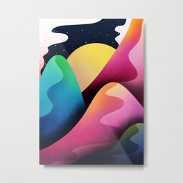 space sun hills Metal Print
