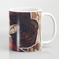 audrey Mugs featuring Audrey  by Olechka