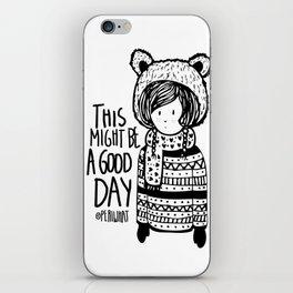 Teddy Bear Boy  iPhone Skin