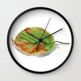 Autumn leaf of hazelnut  Wall Clock