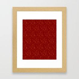 Dutch houses pattern red - yellow Framed Art Print