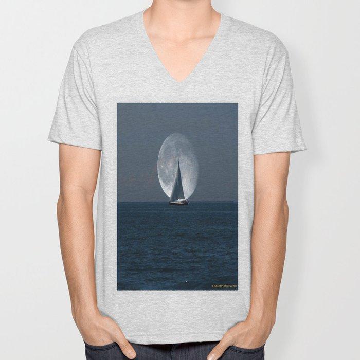Full Moon Sailing Unisex V-Neck