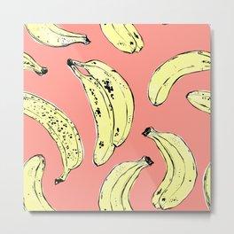 Bananas in peach Metal Print