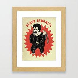 black dynamite! Framed Art Print