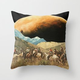 Riders on the slopes Throw Pillow
