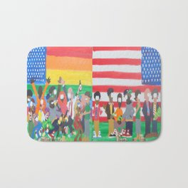 United we Stand Divided we Fall Bath Mat