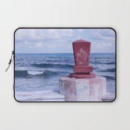Winter Sea, Island of Women, Isla de Mujeres, Cancun, Mexico Laptop Sleeve