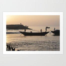 Raichak Fishermen Art Print