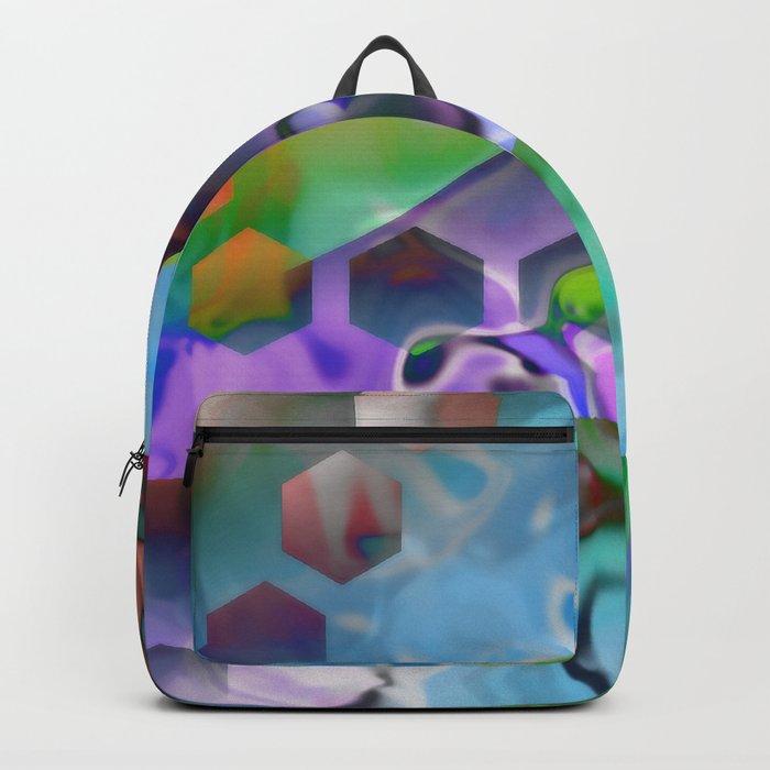 Random Hexagons Backpack