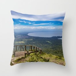 View from Mombacho Volcano of Lake Nicaragua and Islands Throw Pillow