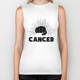 Cancer, just punch it Biker Tank