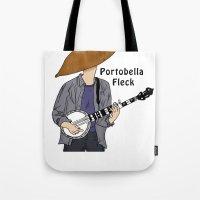 jay fleck Tote Bags featuring PortoBella Fleck  by Pattavina