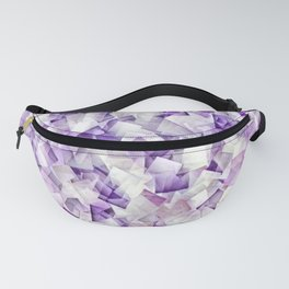 Geometric Stacks Mini Purple Fanny Pack
