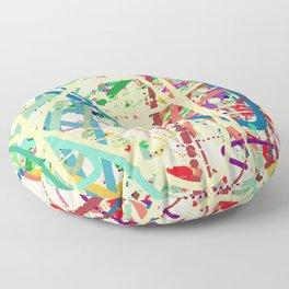 An Homage to Pollock Floor Pillow