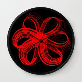 Infinity flower abstract Wall Clock