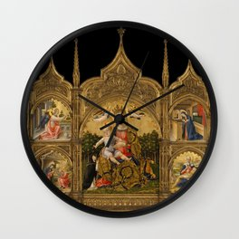 The Madonna of Humility, the Annunciation, the Nativity, and the Pietà,ca. 1465 Wall Clock