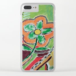 """"""" the flower """" Clear iPhone Case"""