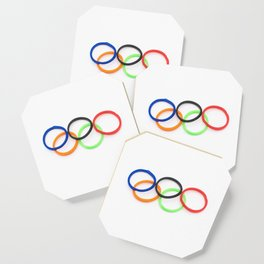 Olympic rings elastic Coaster