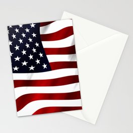 American Flag USA Stationery Cards