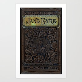 Jane Eyre by Charlotte Bronte, Vintage Book Cover Art Print