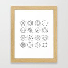 minimalist snow flakes Framed Art Print