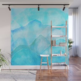 Flooded Blues Wall Mural