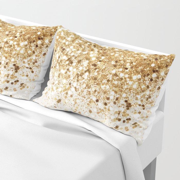 Sparkling Gold Glitter Glam #2 #shiny #decor #art #society6 Kissenbezug